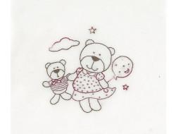 Mini kit broderie - Teddydou et son ami, DMC