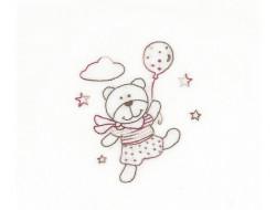 Mini kit broderie - Teddydou joue avec les étoiles, DMC
