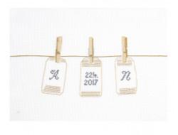Kit Point de croix - Petit trousseau d'étiquettes, DMC