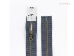 Fermeture à glissière zipper métal - Coton délavé
