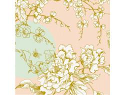 Toile imprégné fleurs de cerisier - Rico