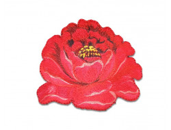 Écusson thermocollant - Fleur rouge
