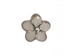 Bouton bijou rose fleur 10 mm