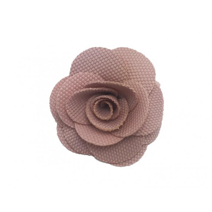 Broche Rose - vieux rose