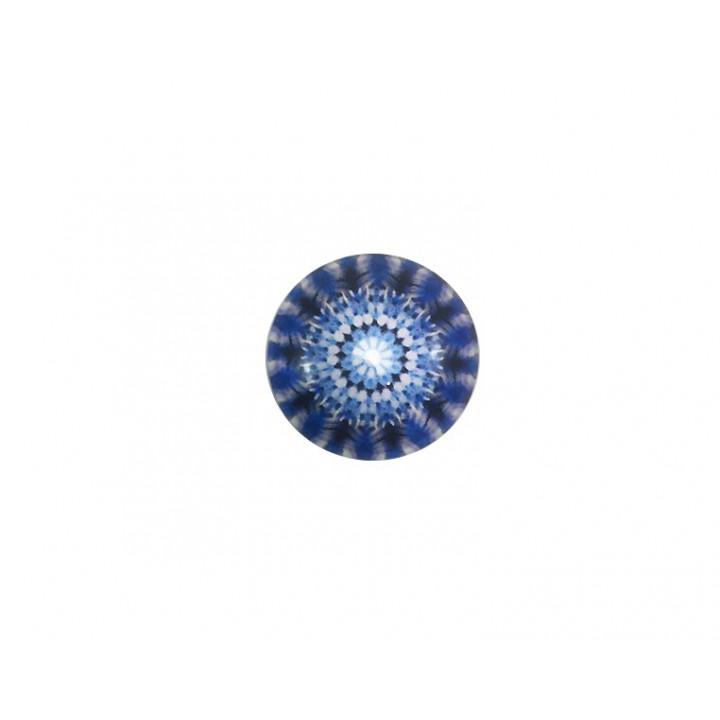 Bouton Mandala - Marine 18 mm