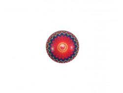 Bouton Mandala - Rouge