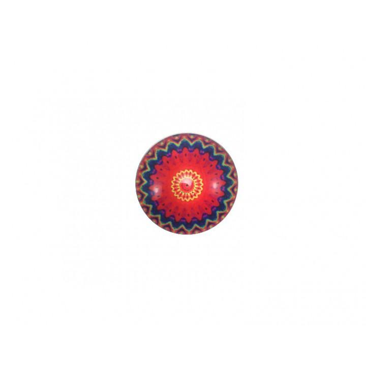 Bouton Mandala - Rouge 18 mm