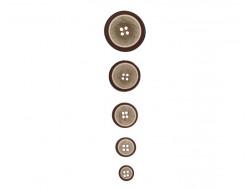 Bouton classique - Aspect bois beige