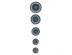 Bouton classique bleu 10, 11, 15, 18, 20 mm