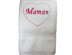 Serviette de toilette brodée - Maman