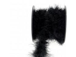 Plumes de Marabout blanc ou noir - 10 cm