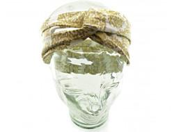 Headband tissu - Or