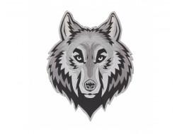 Écusson thermocollant géant - Tête de loup