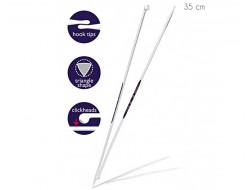 Aiguilles à tricoter 35 cm du 3 au 10 mm ergonomiques PRYM