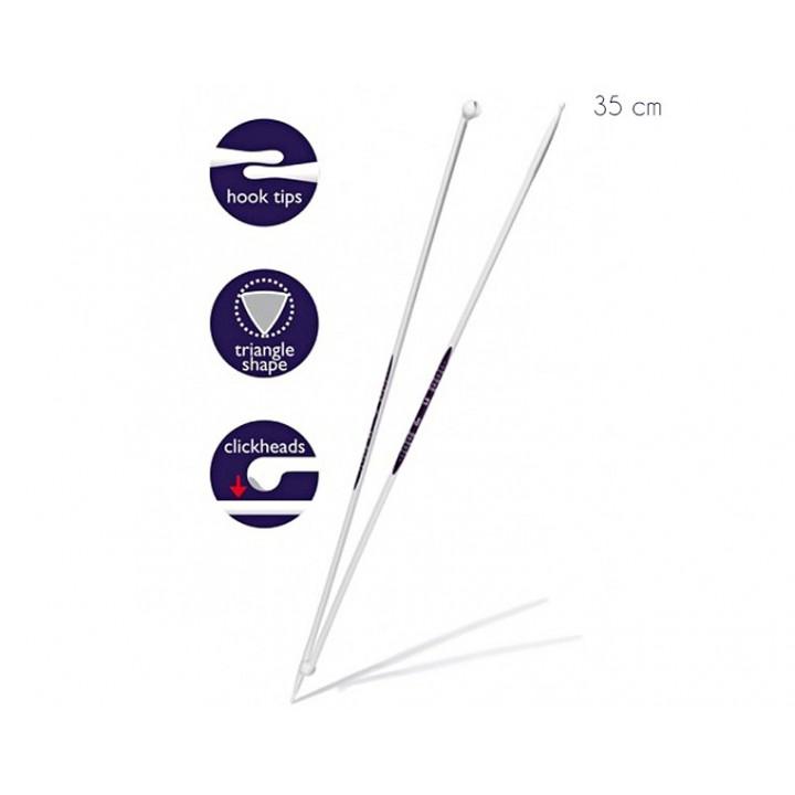 Aiguilles à tricoter du 3 au 10 mm ergonomiques 35cm - PRYM