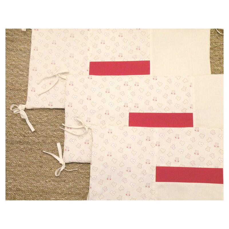 tour de lit b b 100 fait main mercerie floriane. Black Bedroom Furniture Sets. Home Design Ideas