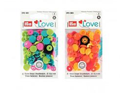 Boutons pression color snaps - Fleurs 13,6 mm Prym