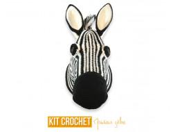 DIY Trophée zèbre au crochet