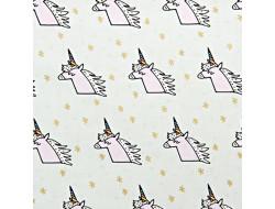 Tissu imprimé Rico - Licorne