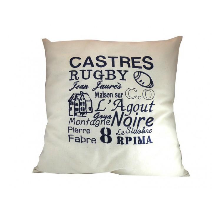 Coussin brodé - CASTRES