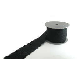 Broderie anglaise noire - 70 mm