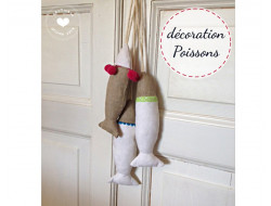 Décoration suspension - poissons