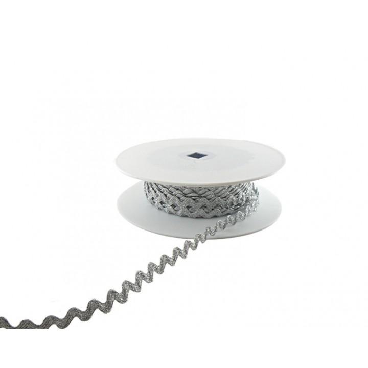 Serpentine Lurex Argent - 10 mm