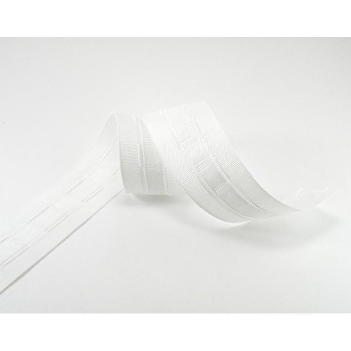 Ruban fronceur blanc - Plusieurs tailles