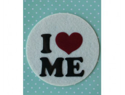 Appliqué thermocollant feutrine i love me