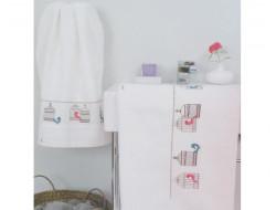 Serviette de toilette Écru RICO