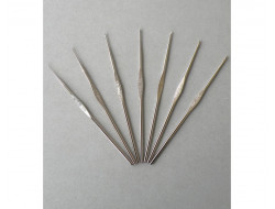 Crochet dentelle 0.60 au 2 mm Acier 12 cm