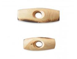 Bouton bûchette en bois