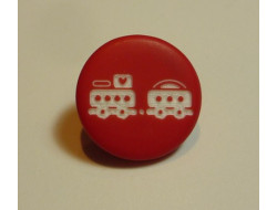 Bouton petit train rouge
