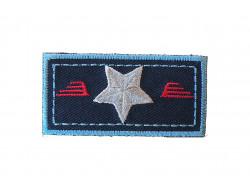 Écusson thermocollant étoile sur fond bleu Petit modèle