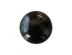 Bouton demi boule noir