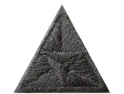 Écusson thermocollant triangle anthracite
