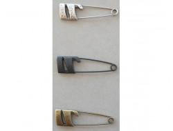 Épingle kilt métal argent, bronze ou noire