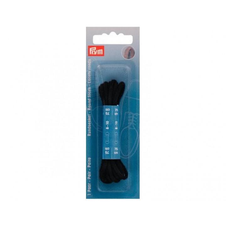 Lacets de chaussures ronds 75 cm Noir ou brun