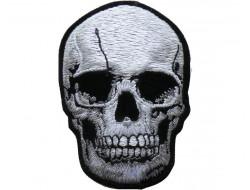 Écusson thermocollant tête de mort 8,2 cm x 5,8 cm