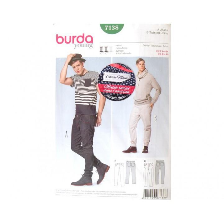 Patron Pantalon Jeans 7138 BURDA