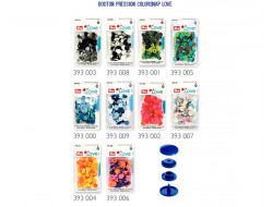 Boutons pression color snaps LOVE - Mélange 12,4 mm