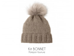 Kit bonnet beige - Bergère de France