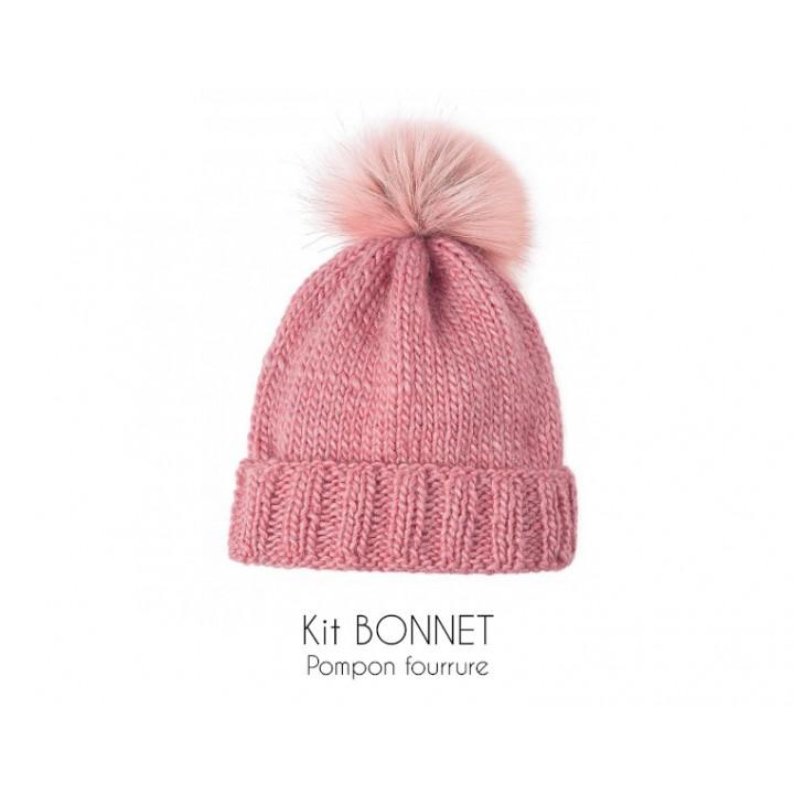 Kit bonnet rose - Bergère de France