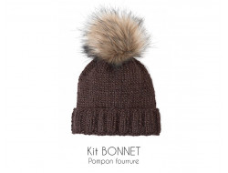 Kit bonnet marron - Bergère de France