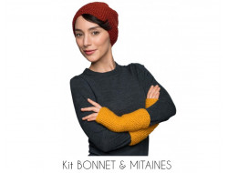 Kit bonnet et mitaines - Bergère de France
