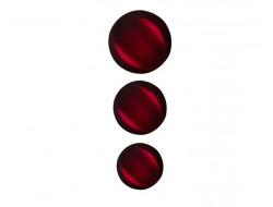 Bouton classique incurvé - nuancé rouge