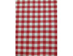 Tissu imprimé - Vichy rouge