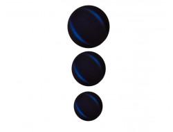 Bouton classique incurvé - nuancé bleu