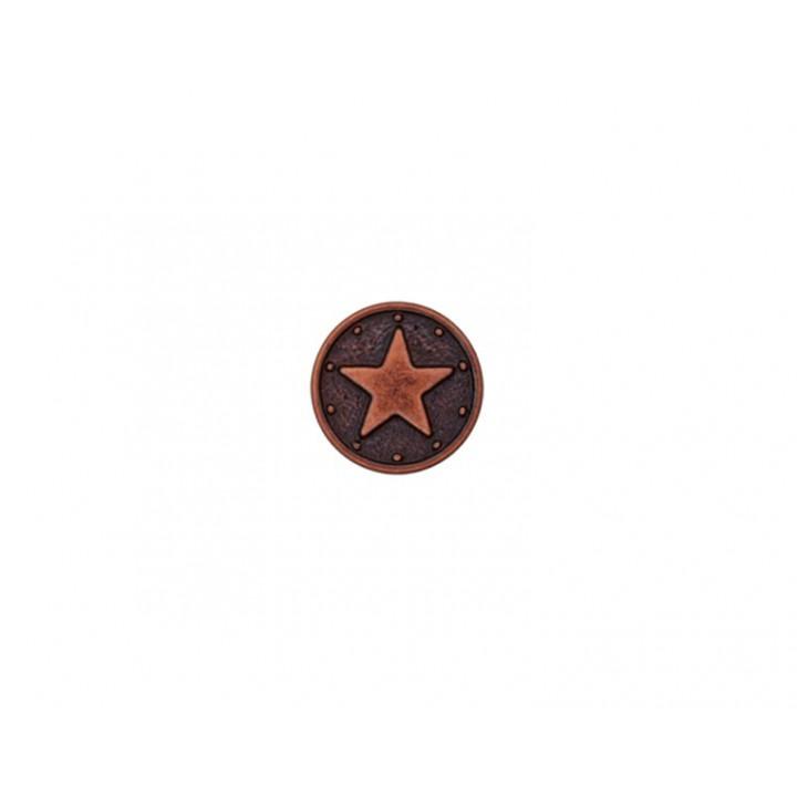 Bouton métal - étoile cuivre rose