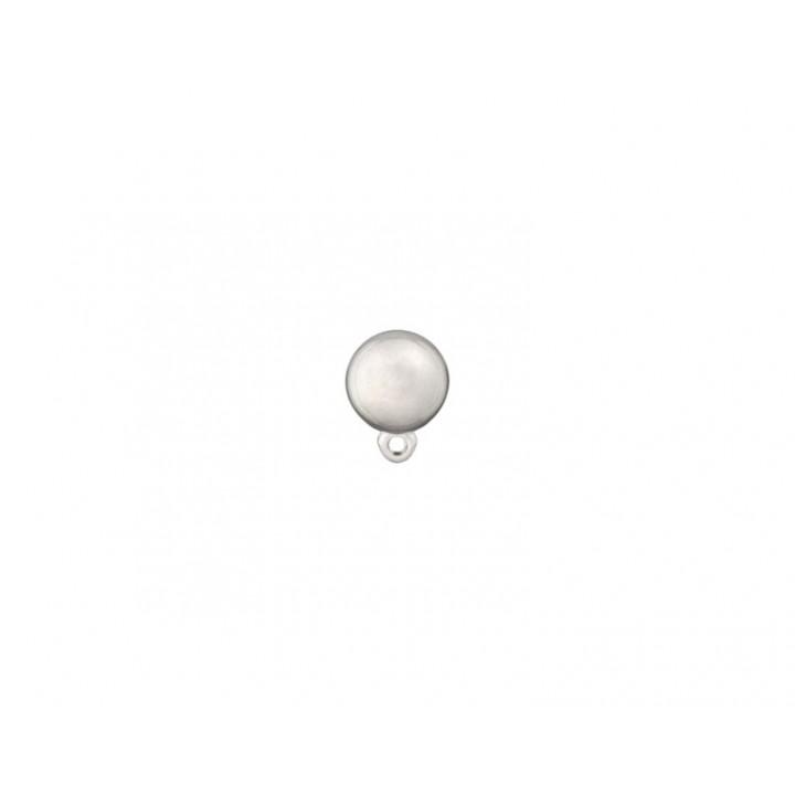 Bouton métal - Boule sur pied argent